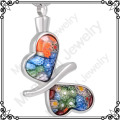 MJD8117 butterfly urn Murano glass graceful women cremation jewelry stainless steel ashes urn necklace