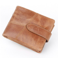 Fashion Vintage Men RFID Antimagnetic Wallet Genuine Leather Coin Bag Zip Wallet Fashion Slim Perse PORTFOLIO Vallet Card Holder