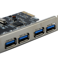 4 Port USB3.0 PCI E Riser Card PCI Express Expansion Card Adapter 5 Gbps Speed PCI Usb 3.0 Super Fast Data Transfer