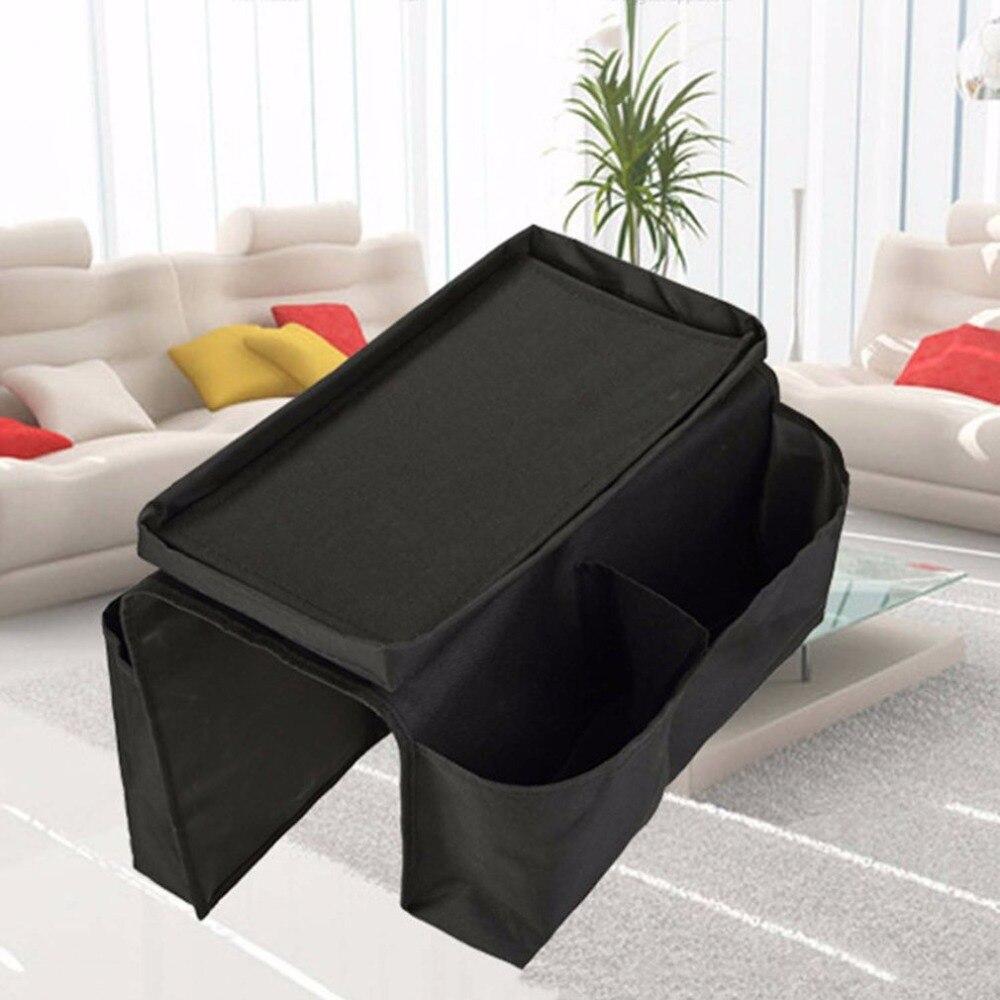 High Quality 6-Pockets Sofa Storage Bag Arm Rest Organizer Remote Control Holder Bag Tray Organizer For Home Storage Bags