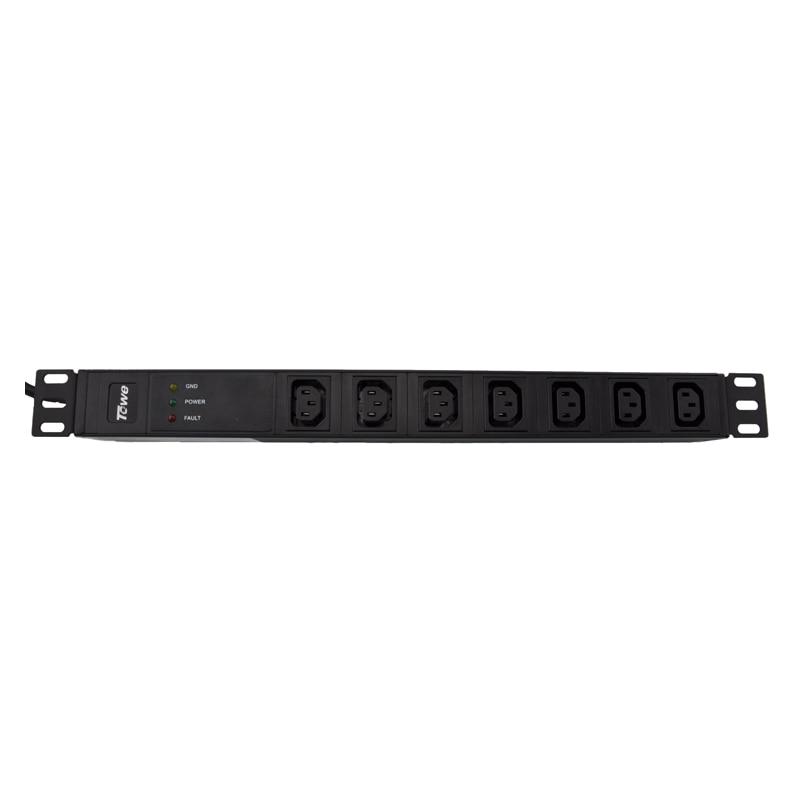 цена TOWE EN10/I702S 10A 7 WAYS IEC320 C13 19inch Cabinet socket SPD PDUs онлайн в 2017 году
