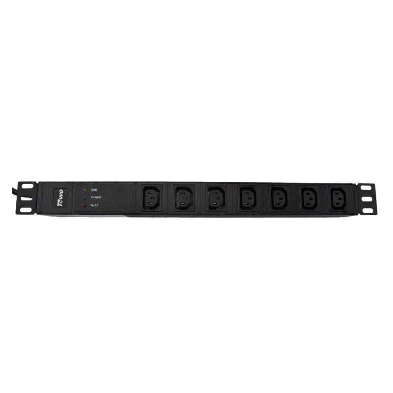 TOWE  PDUs SPD Power Distribution Unit Cabinet Socket  Power Strip  EN10/I702S 10A 7 WAYS IEC320 C13 19inch