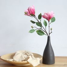 Artificial Yulan Magnolia Flower Silk Single For Household And Wedding Party Decoration Fake Flowers Craft Wholesale