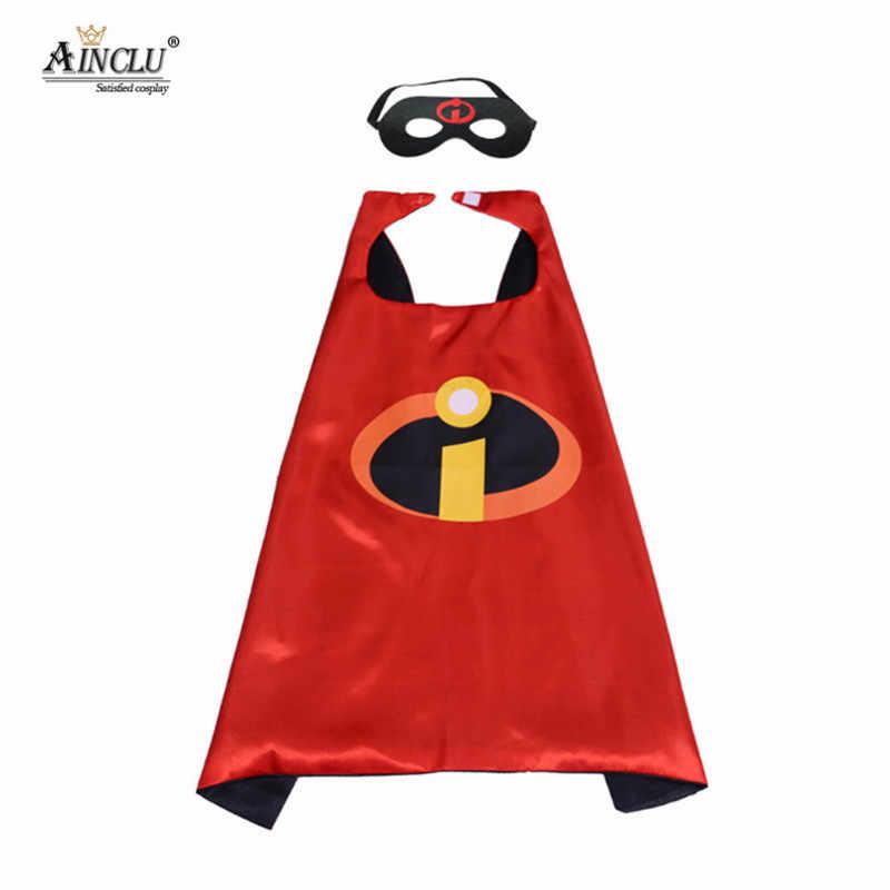 เด็กสาว Incredible คอสเพลย์เครื่องแต่งกาย Tutu กับ Cape Mask เด็กวัยหัดเดินฮาโลวีน Superhero ครอบครัวคอสเพลย์เสื้อผ้าเครื่องแต่งกาย