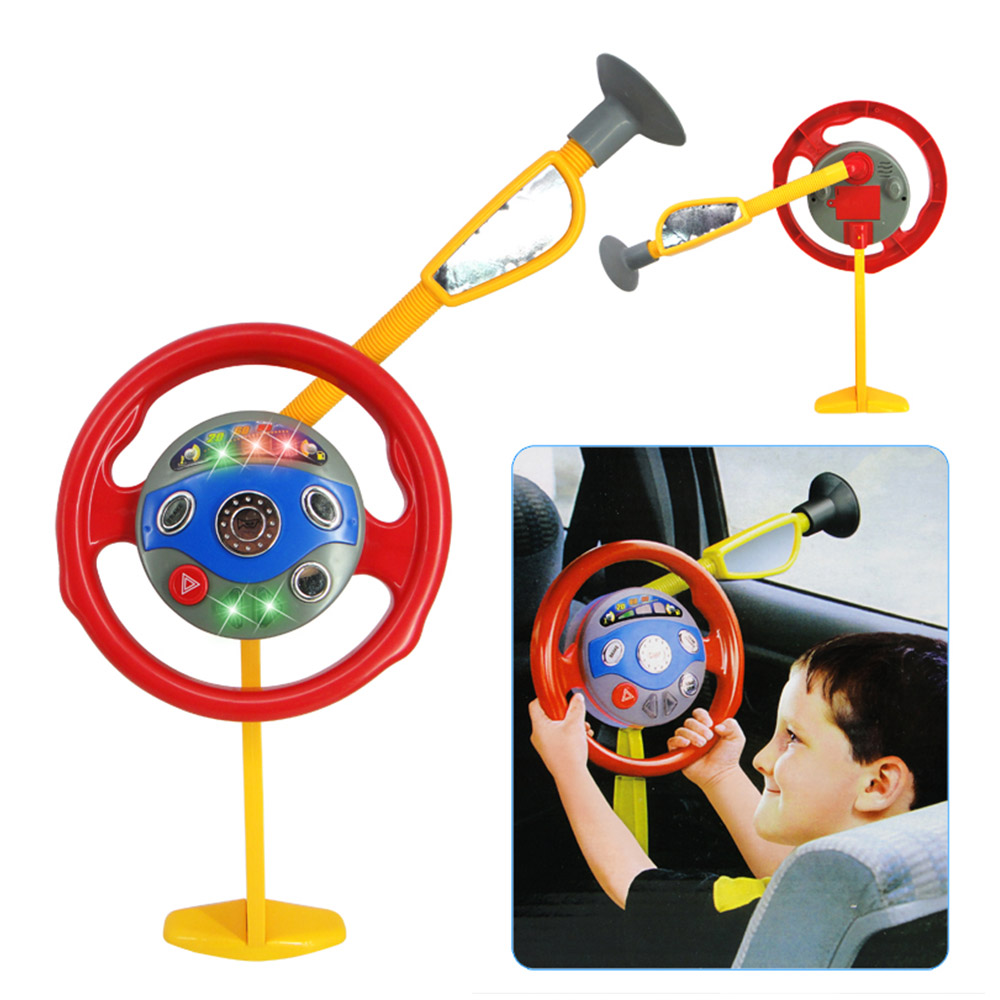 Baby Electronic Driver Backseat Driver Car Seat Steering Wheel Infant Kids Toy Drop Shipping
