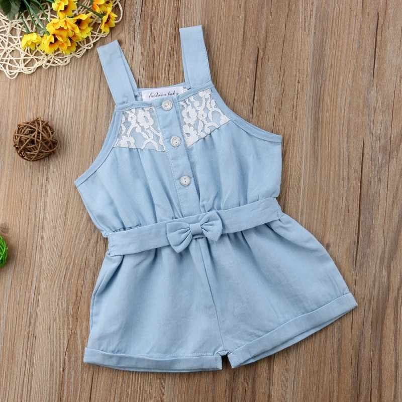 5d545665165d Detail Feedback Questions about Kids Baby Girl Denim Romper Jumpsuit ...