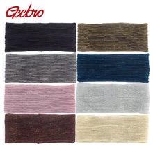 Geebro feminino magia elástica plana cabelo bandana verão fresco cor paletas cabeça banda para meninas estiramento turbante acessórios de cabelo