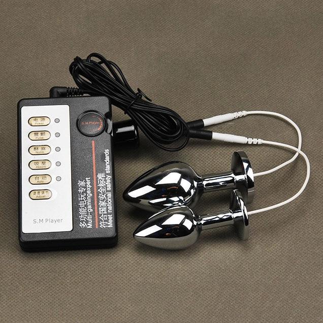 Electro shock anale plug medische thema therapie pulse seksspeeltjes apparaten kit anale vagina masturbatie stimulator grote butt plug speelgoed