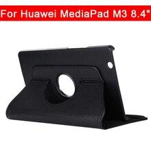 360 Вращающийся из искусственной кожи чехол для huawei MediaPad M3 8,4 дюймов BTV-W09 BTV-DL09 защитная оболочка чехол для планшета с автоматическим включением и/Sleep (Пробуждение/спящий режим)
