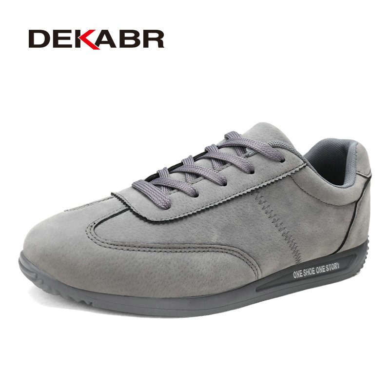 DEKABR High-Quality Suede Breathable Super Cool Men's Shoes Fashion Casual Male Lace-up Suitable For All The Year Shoes Men gram epos men casual shoes top quality men high top shoes fashion breathable hip hop shoes men red black white chaussure hommre
