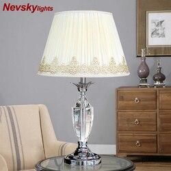Kryształowa lampa stołowa biurko w sypialni światła kryształowe lampy stołowe żarówka lampa nowoczesna dekoracja wnętrz stolik nocny oświetlenie salonu