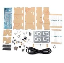 ФОТО best price 4 digit 1 inch led digital clock kit diy kit digital led electronic microcontroller clock large screen display time