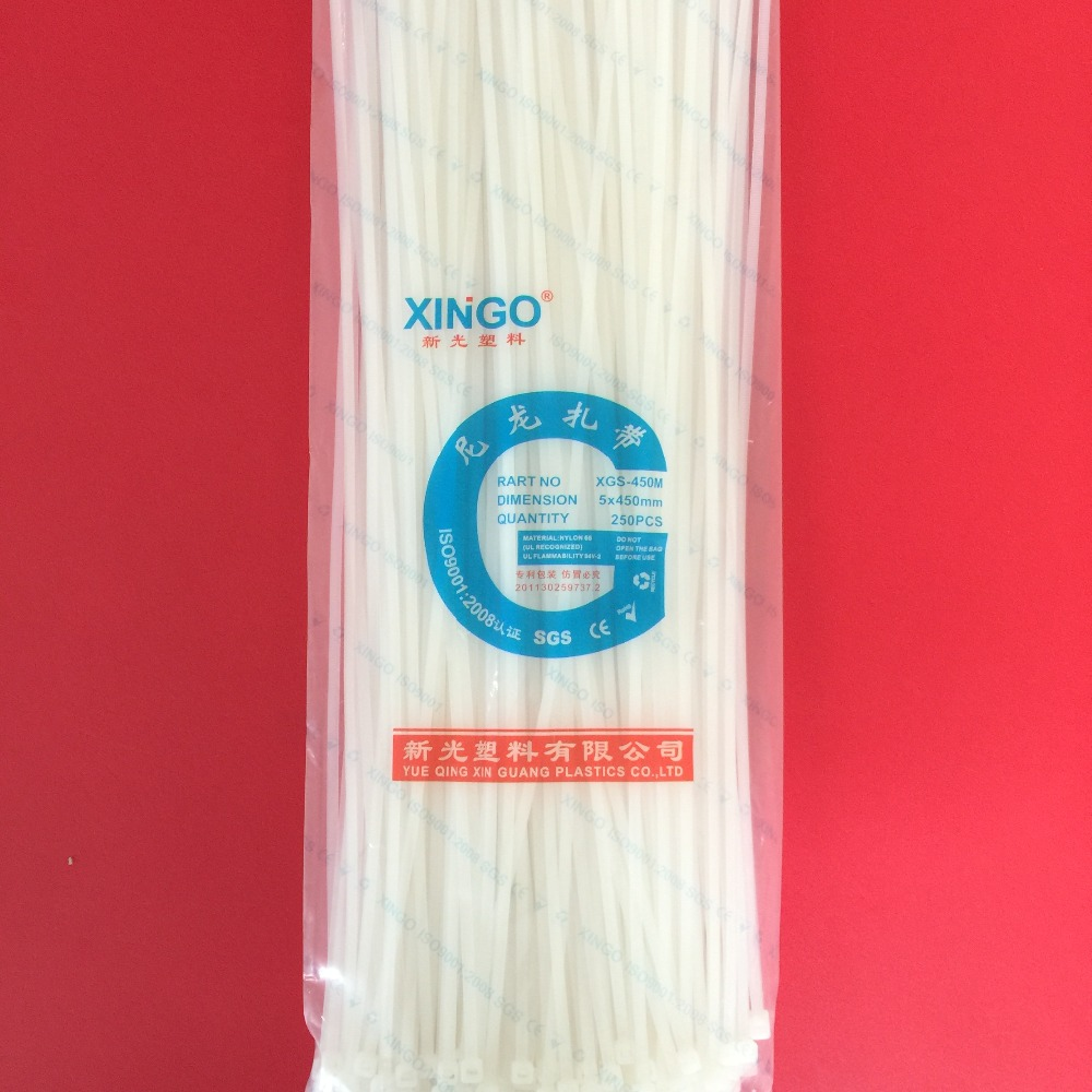 250Pcs/pack 5*450mm High Quality width 4.8mm White Color (National Standard) Self-locking Plastic Nylon Cable Ties,Wire Zip Tie250Pcs/pack 5*450mm High Quality width 4.8mm White Color (National Standard) Self-locking Plastic Nylon Cable Ties,Wire Zip Tie