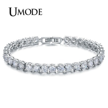 UMODE Charm AAA+ Round 0.5 carat Cubic Zirconia Tennis Bracelet for Woman Pulseira Classic Wedding Jewelry Lady Bracelet UB0021 sterling silver diamond tennis bracelet