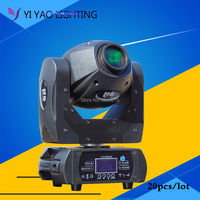 20pcs/lot 60W Gobo LED Moving Head Light 3 Face Prism DMX Controller 10/12CH for Stage