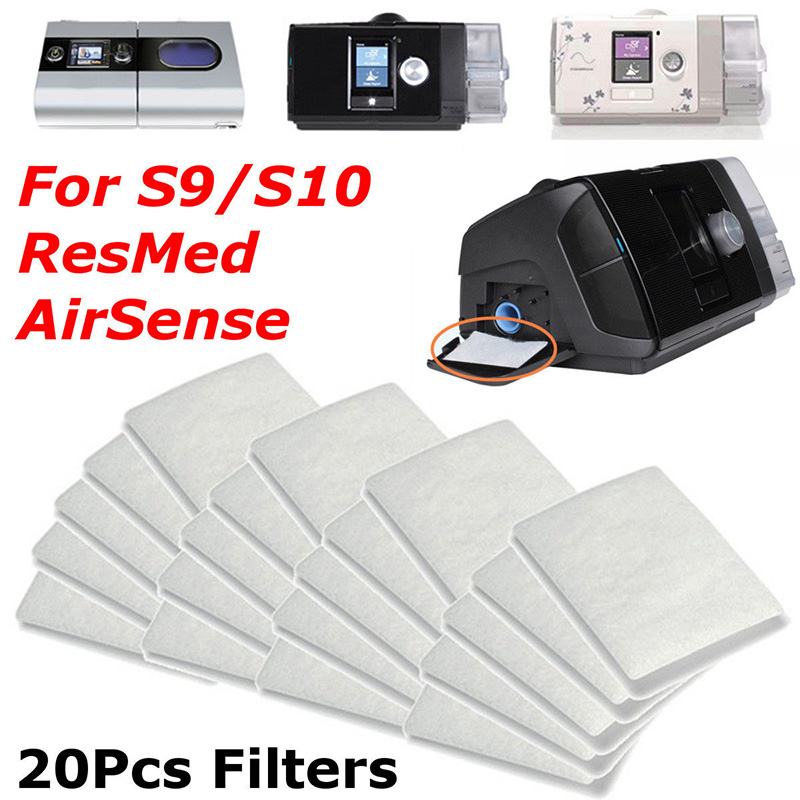 Hot Sale 20 Pcs Disposable Universal Replacement Filters Compatible S9 S10 ResMed AirSense DC88Hot Sale 20 Pcs Disposable Universal Replacement Filters Compatible S9 S10 ResMed AirSense DC88