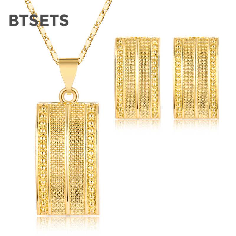 ดูไบ Gold สีชุดเครื่องประดับสำหรับสตรี Vintage แอฟริกันลูกปัดเครื่องประดับชุดคริสตัลเทียมคริสตัลสร้อยคอชุดของขวัญ