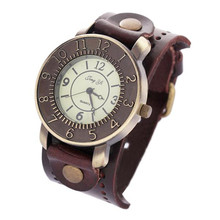Casual Dress Watches Women Vintage Quartz Analog Punk Watch Female Bracelet Wrist Watch Clock Hour Relogio Masculino Hot Sale