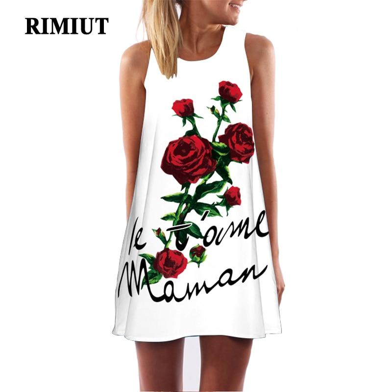 RIMIUT 3D վարդի ծաղիկների տպագիր Կանանց - Կանացի հագուստ