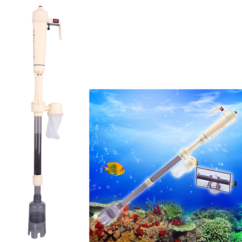 Aquarium battery syphon operated fish tank vacuum gravel for Fish tank vacuum