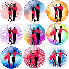 TAFREE Dancing Partner Social Dance Size 12- 20mm Glass Cabochon Cover Cameo Pendant Settings DIY Beads