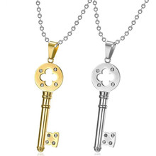MINCN Fashion stainless steel mens womens pendant key necklace jewelry guitar men and women skeleton
