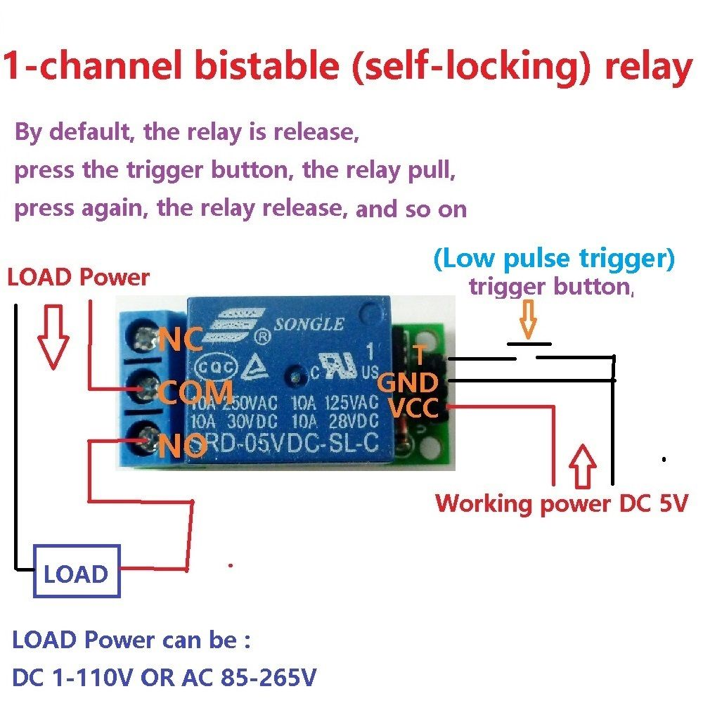 Latching Relays How They Work Schematic Bistable Schematicjpg Buy Latch Relay Module Flip Flop Self 1000x1000