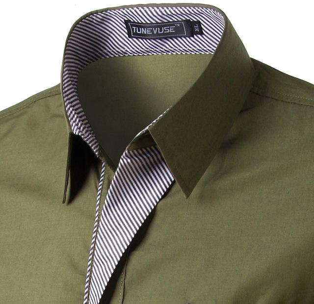 2018 New Fashion Brand Camisa Masculina Long Sleeve Shirt Men Korean Slim Design Formal Casual Male Dress Shirt Size M-4XL