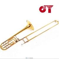 2016 nuovo jinyin JYTB-ET118G trombone tenore bb professionale a f tono trombone in ottone strumenti a fiato trombone bocchino + caso