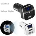 Universal dual usb 3.1a del cargador del coche adaptador de carga para el iphone ipad samsung teléfono móvil voltímetro voltaje led del monitor del metro