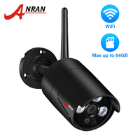 ANRAN 2.0MP IP Camera Wi fi Outdoor Waterproof HD Video Surveillance Security Camera Built in SD Card Slot Wifi Camera 1080P