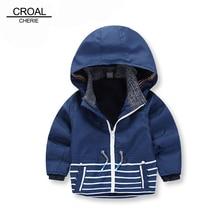 80-130cm Fashion Spring Striped Fleece Outerwear Coats Kids Boys Jacket Children Clothing Boy Windbreaker Baby Trench Coats