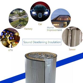 Insonorisation Matériel Coton D'isolation Acoustique 236 mil 15 pieds carrés Pour Tous Les modèles Bruit Isolation Pour voiture Coton D'isolation thermique