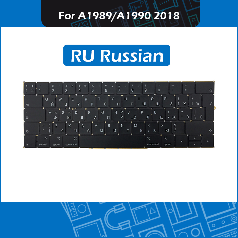 New RU Laotop 13 15 Replacement keyboard for font b Macbook b font Pro Retina A1989