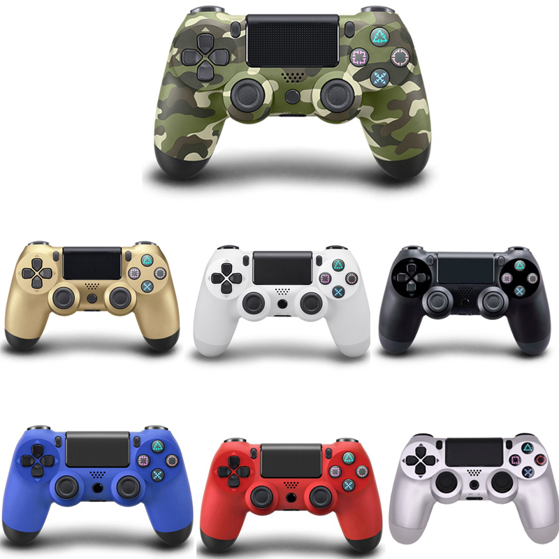 Bluetooth Wireless Gamedpad Controller For Sony PS4 Game Controller Joystick Gamepad For PS3 For Playstation 4 console 2 4g wireless type c game controller joystick gamepad otg receiver for xiaomi android smart phone for ps3 game console 5 colors