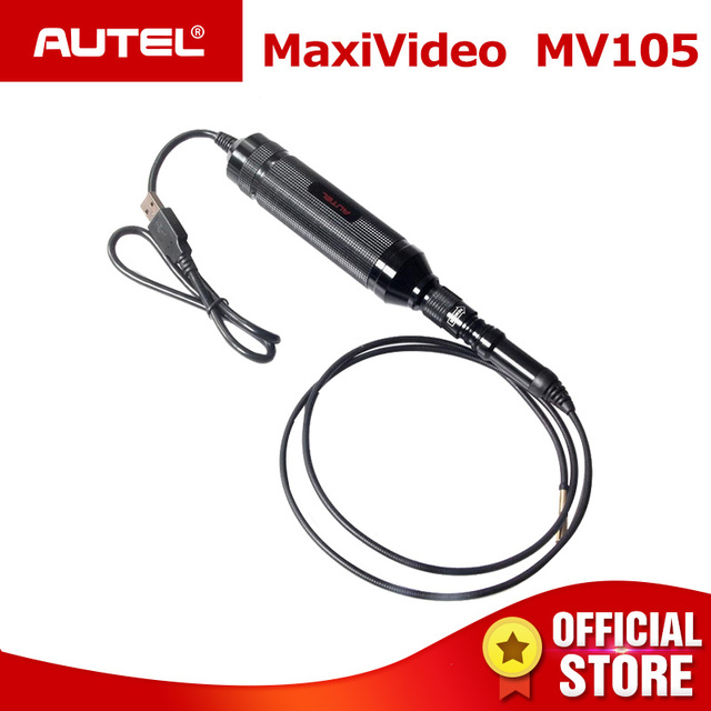 Autel MaxiVideo MV105 Digital Inspection Camera Inspection Videoscope 5.5 mm Image Head Used with MaxiSys MaxiSys Series PC etc.
