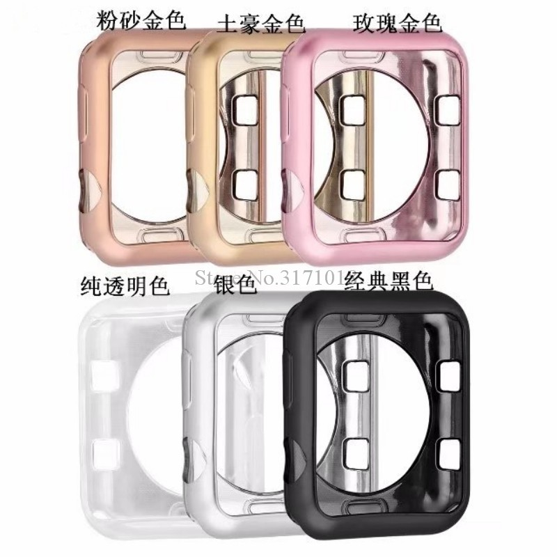 Stylish Soft TPU protective Case Series 3 2 1 For Apple Watch 38mm 42mm Colorful Cover Shell 42 mm Perfect Match Bumper stylish protective tpu bumper frame w buttons for iphone 4 4s white black
