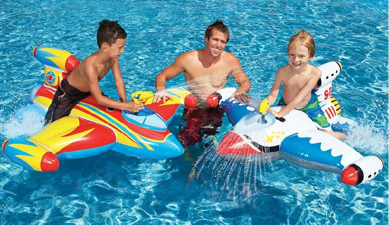 Enfants gonflable jouets de natation chasse supports supports