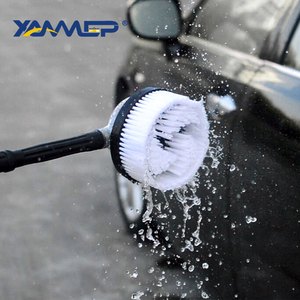 Image 3 - Car Wash Brush Water Flow Car Brush Replaceable Heads Truck Tire Cleaning Handle Brush Windows Car Cleaning Tools Xammep