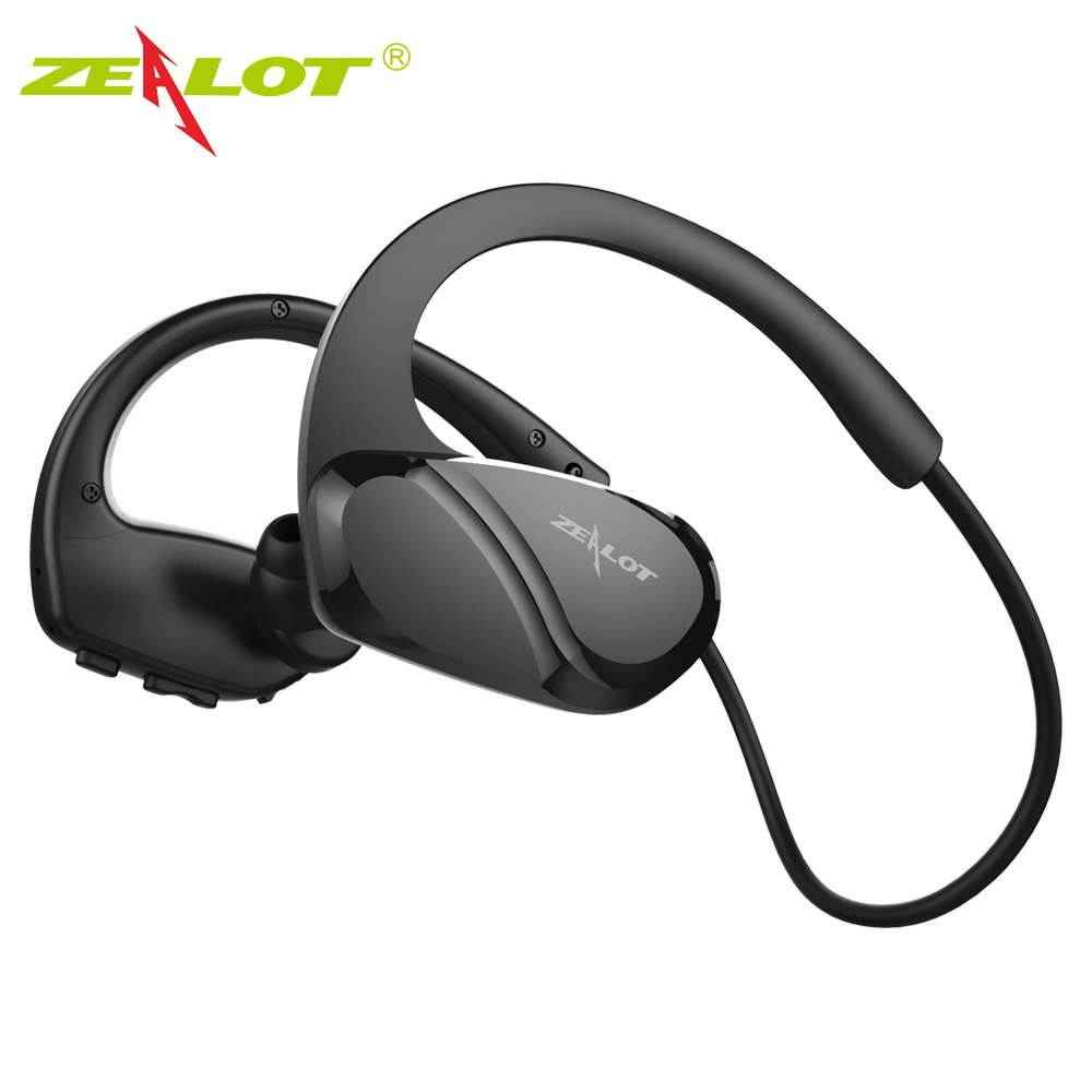 2018 Zealot H6 Wireless Bluetooth Headphones Stereo Bass Headset Sports Running Earphone Earbuds With Mic For Exercise Fitness magnetic switch earphones sports running wireless earbuds bass bluetooth headsets in ear with mic for running fitness exercise