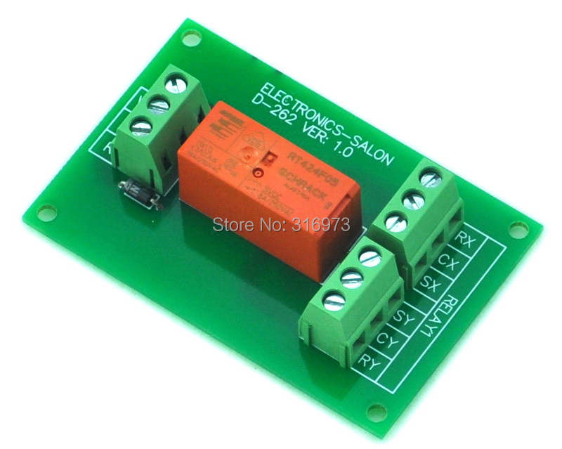 Passive Bistable/Latching DPDT 8 Amp Power Relay Module, 5V Version, RT424F05