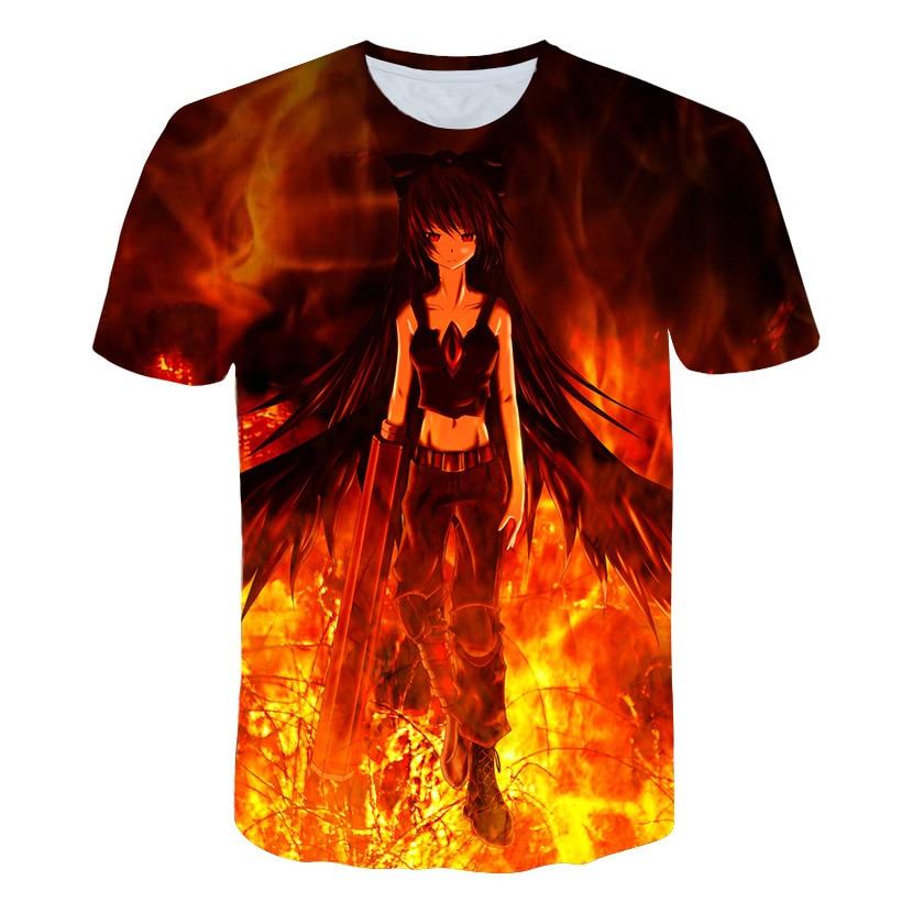 2018 New Fashion T-shirt Anime flame beauty Print t shirt Men /Women tshirts Summer Funny Short Sleeve O-neck Tops&Tees M-5XL