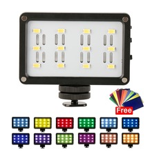 Mini Luz de vídeo LED batería Bulit in con filtros iluminación de relleno de fotografía súper brillante para cámaras DSLR Grabación de boda