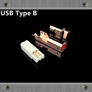 Image 2 - Gold Plated Copper  USB interface Type A Type B Male jack usb Connectors adapter for Audio cable DAC  Printer line diy usb cable