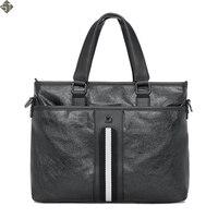 Brand Casual Men Briefcase Business Shoulder Bag Leather Messenger Bags Computer Laptop Handbag Bag Men's Travel Bags
