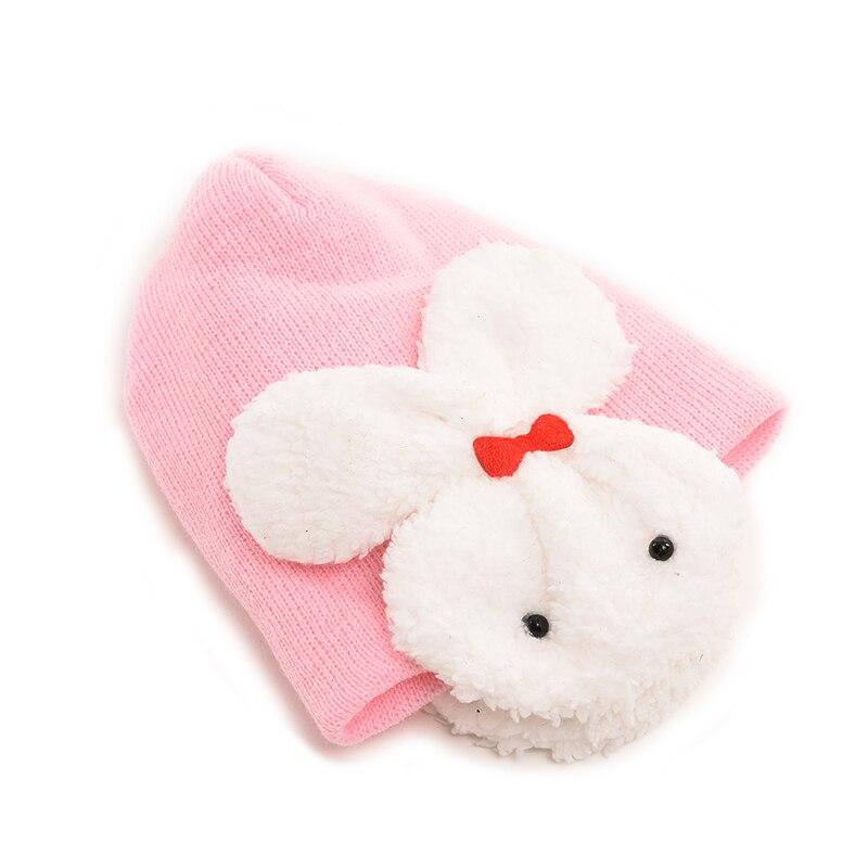 Baby Cartoon Winter Hat Rabbit Knitted Crochet Beanie Cap Children Baby Kids Hat 10 Colors