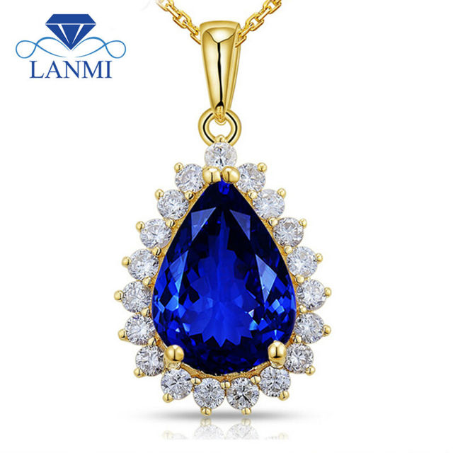 Pear 10x14mm 14kt yellow gold tanzanite diamond pendant natural pear 10x14mm 14kt yellow gold tanzanite diamond pendant natural aaa tanzanite pendant solid gold mozeypictures Choice Image