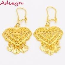 Золотые серьги в форме сердца золотого цвета эфиопские африканские/индийские