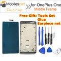 ЖК-Рамка для Oneplus One Высокое Качество ЖК-Экран Передняя Рамка Замена Ассамблея для Oneplus One Смартфон бесплатная доставка