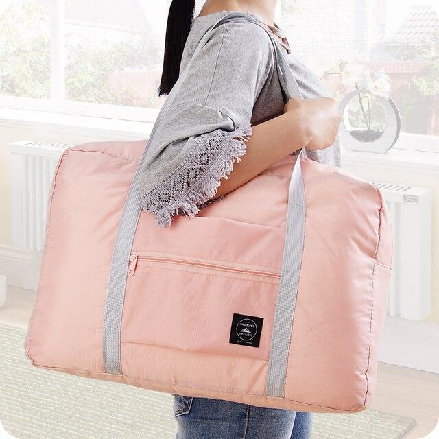 Trolley Reisetasche Faltbare Wasserdichte Nylon Reisetasche Unisex Gepäck Reise Duffle Große Kapazität Tasche Frauen Falten Handtaschen